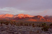 Alpenglow at Red Rock, NV