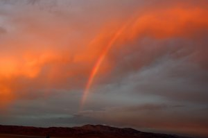 Red Rainbow at Walker Lake, NV