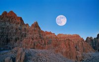 Full Moon at Cathedral Gorge