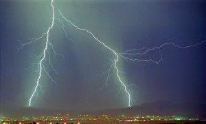 Lightning over Las Vegas, NV