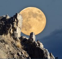 Supermoon at Walker Lake, NV