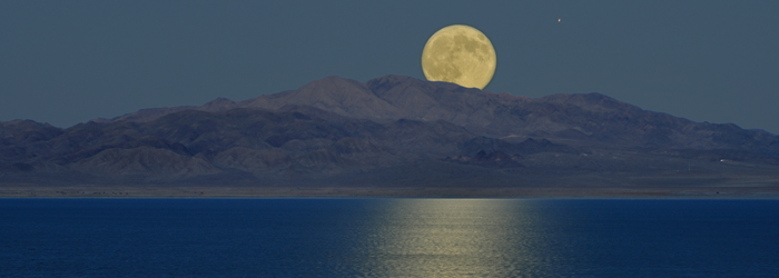Walker Lake Moon